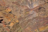 Le rocce che costituiscono l'interno della caldera.