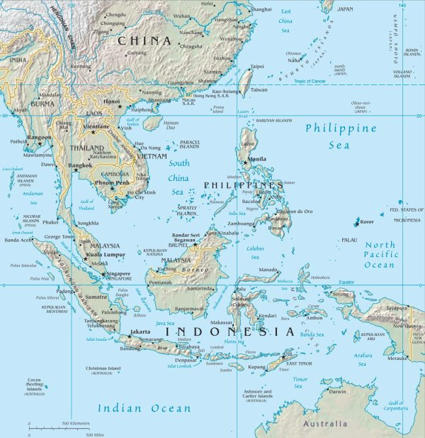 Southeast Asia map   CosmoLearning Geography