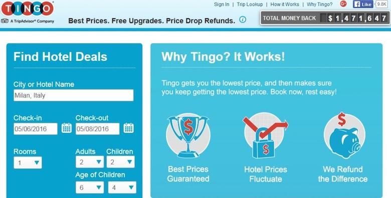Screenshot of the homepage of the Tingo website, explaining how Tingo works