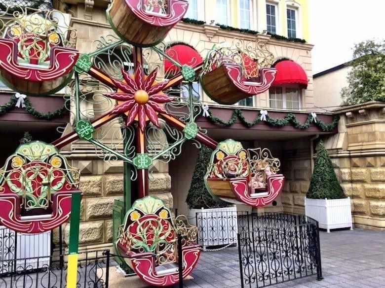 Miniature giant wheel for kids in Phantasialand, Brühl, Germany