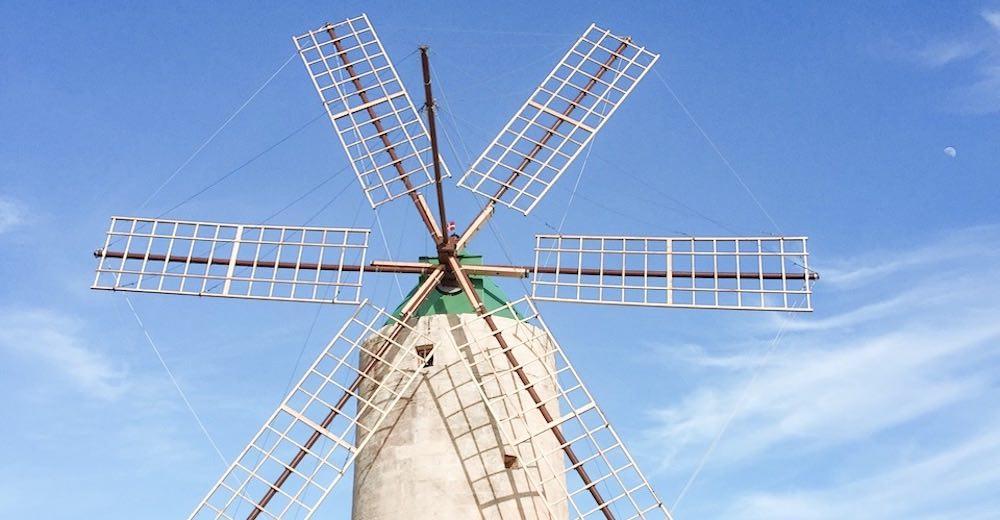 The Ta'Kola Windmill on the Island of Gozo