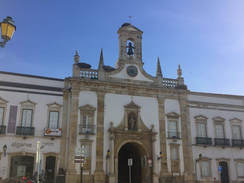 The arch or 'Arco da Vila' is the entrance to the historic center or 'Cidade Velha' in authentic Algarve in Portugal