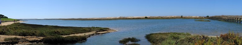 View of Ria Formosa Natural Reserve
