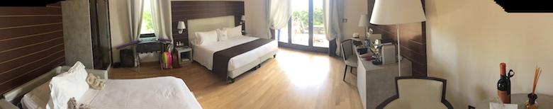 The junior suite at Palazzo di Varignana Resort & Spa near Bologna