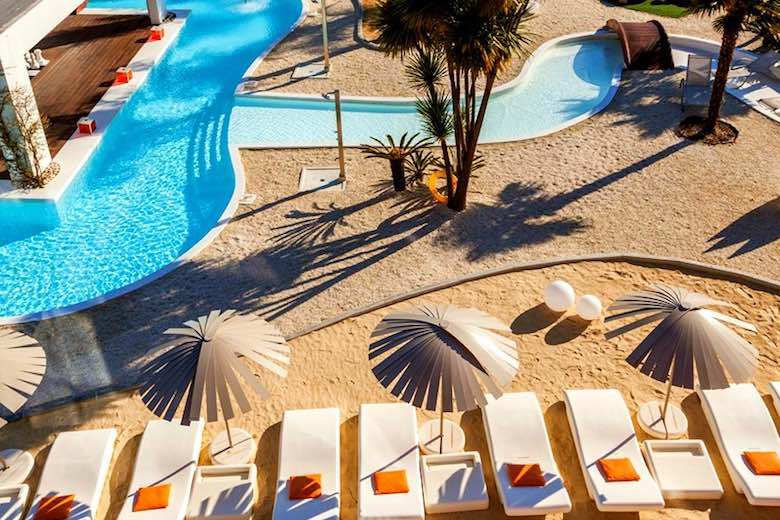 Pool at Augusta Spa Resort, one of 10 exquisite family-friendly luxury hotels in Spain