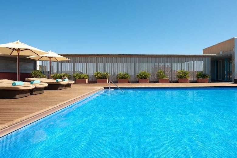 Pool detail at Le Meridien Ra Beach Hotel, one of 10 exquisite family-friendly luxury hotels in Spain