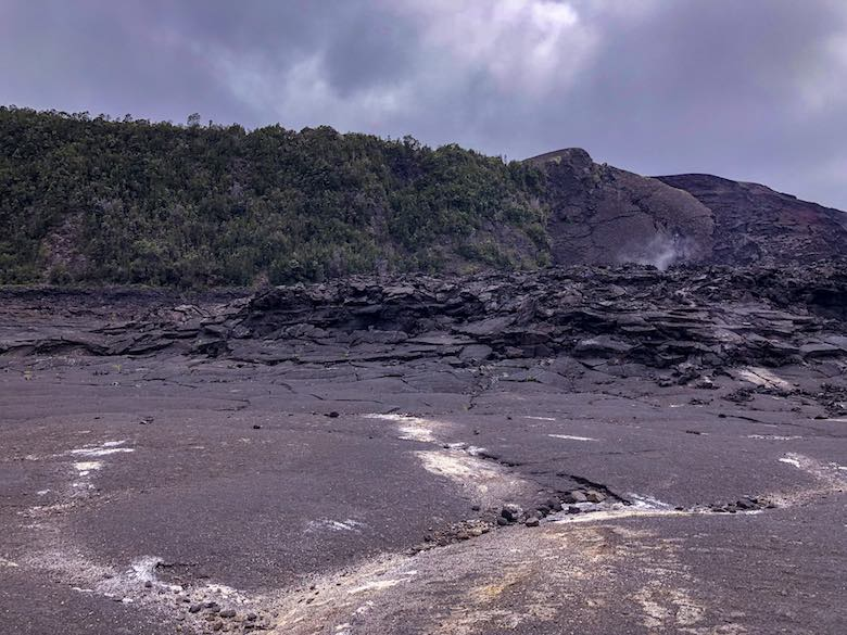 Steaming vent in the Kilauea crater on Big Island Hawaii