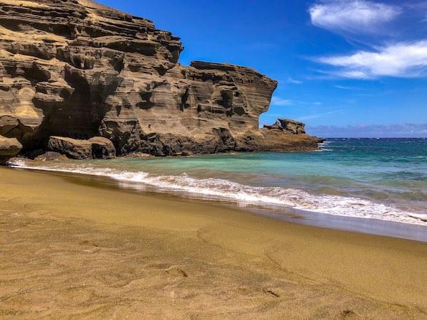 Green Sand Beach in Hawaii Big Island
