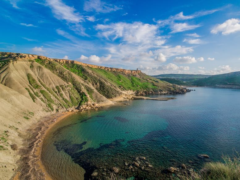 Gnejna Bay offers one of the best beaches in Malta