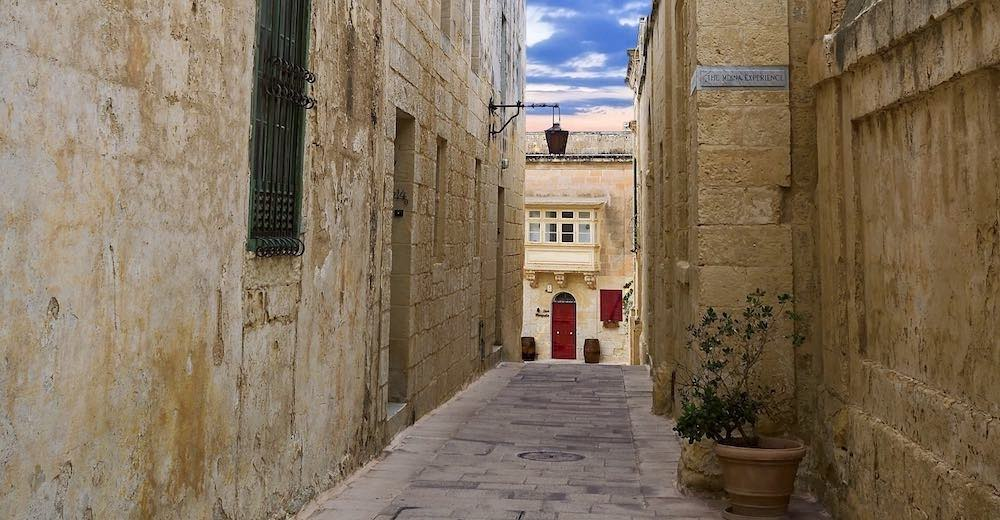Narrow streets of Malta's Mdina