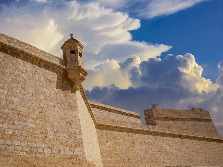 Fort Sant Angelo in Vittoriosa or Birgu, one of Malta's Three Cities