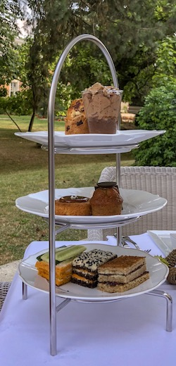 Tea Time at the Terrasse du Bar Galerie of the Waldorf Astoria Trianon Palace Versailles