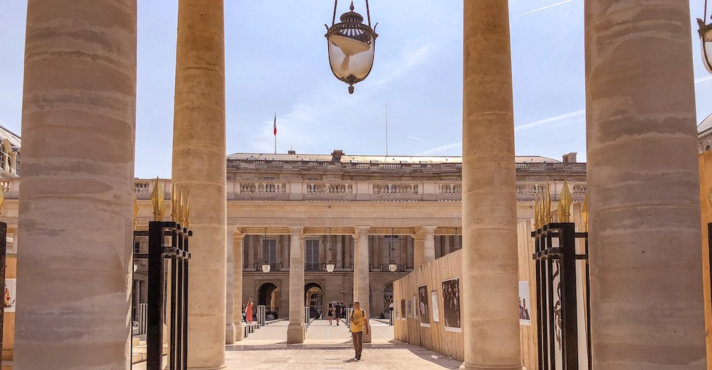 Lantern at the courtyard of the Palais Royal in Paris