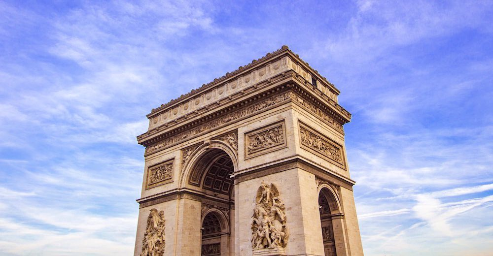 The Arc de Triomphe in Paris, one of the must-sees during your Paris itinerary