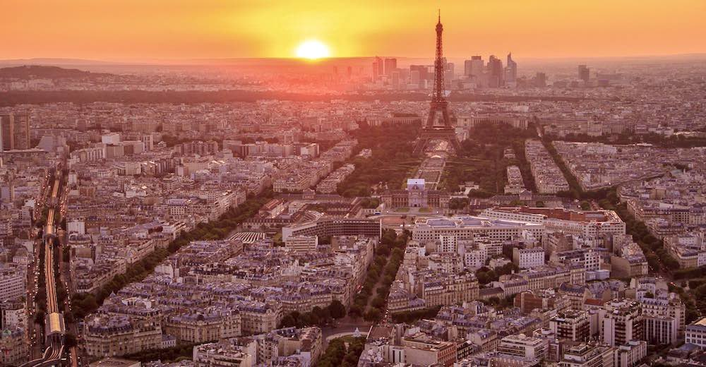 Paris panorama from the Observation Deck at the Montparnasse tower, a great ending to any Paris itinerary
