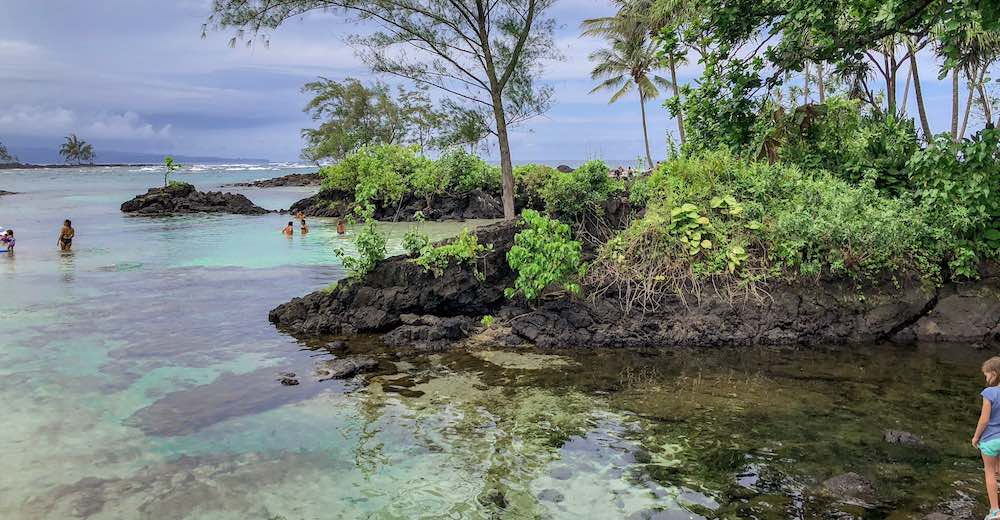 The lagune at Carlsmith Beach Park in Hilo Hawaii
