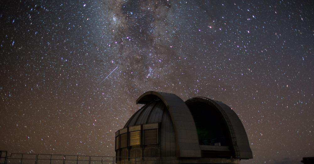 Milky way during a stargazing activity at the Onizuka Center for International Astronomy Visitor Information Station on the Mauna Kea
