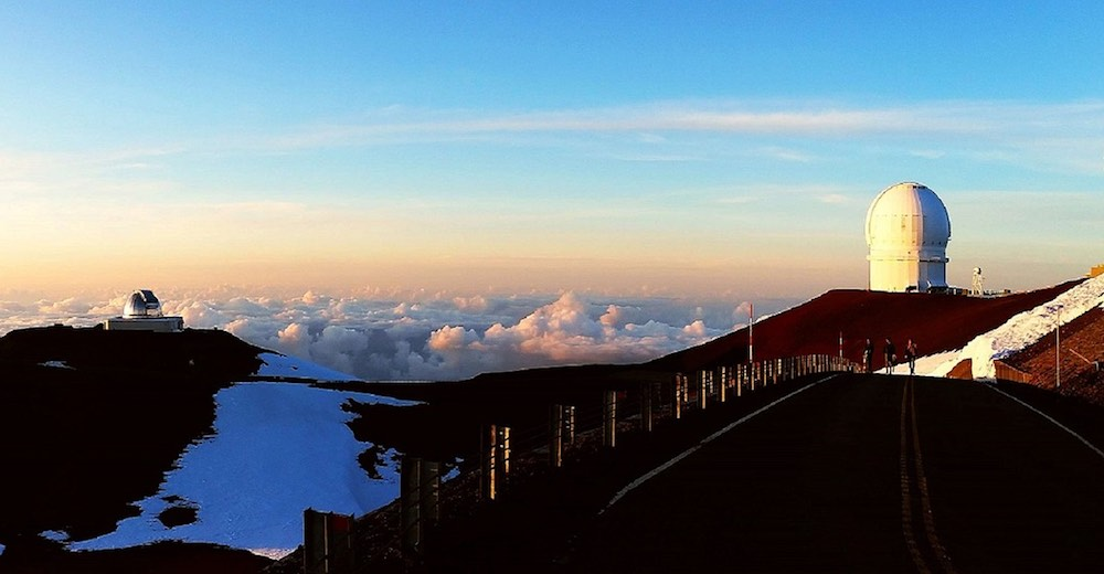 View from the summit of the Mauna Kea
