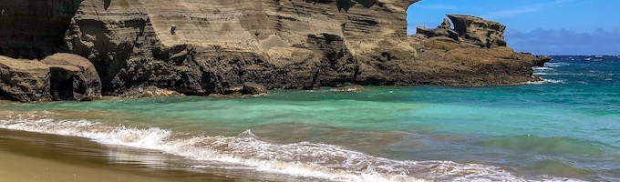 Best beaches on Big Island Hawaii: White, green and black sand beach
