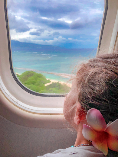 Plenty of scenery to enjoy from the airplane window when you go island hopping in Hawaii