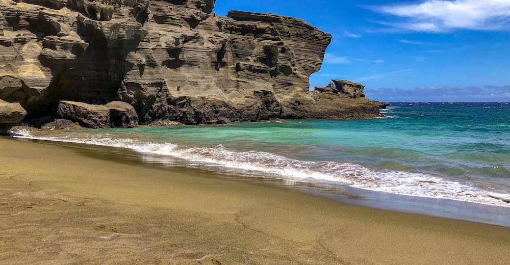 Papakolea green is one of the most unique beaches in Hawaii