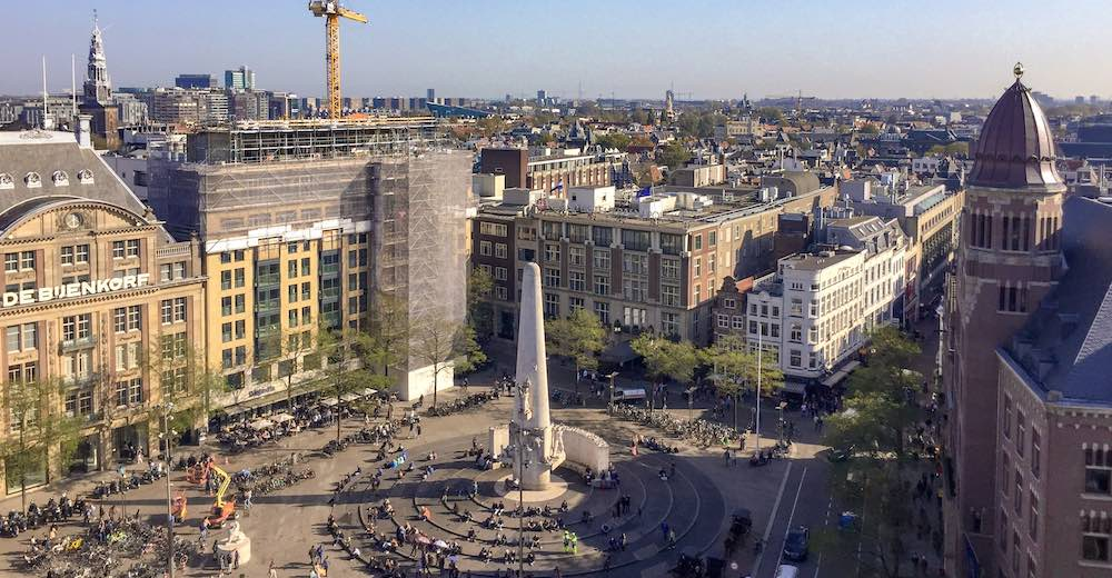 Dam Square, the heart of Amsterdam and the perfect place to start your 2 days in Amsterdam