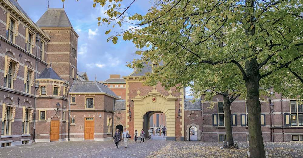 One of the impressive entrance gates to the Binnenhof, one of The Hague's main attractions