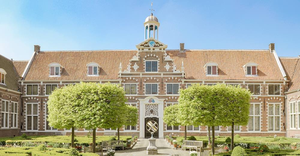 The courtyard of the Frans Hals museum in Haarlem