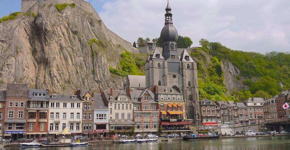 The enchanting town of Dinant, close enough to Brussels to take a day trip