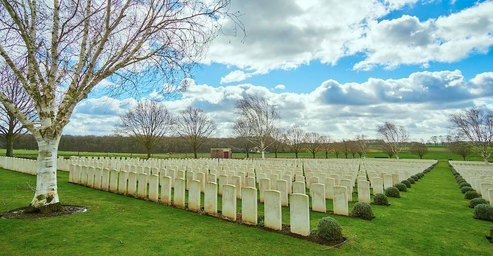 WW I cemetery in the Flanders Fields of Ypres, another excellent Brussels day trip