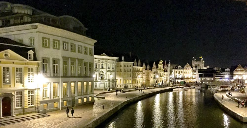 Exploring Ghent by night is one of the essential things to do in Ghent