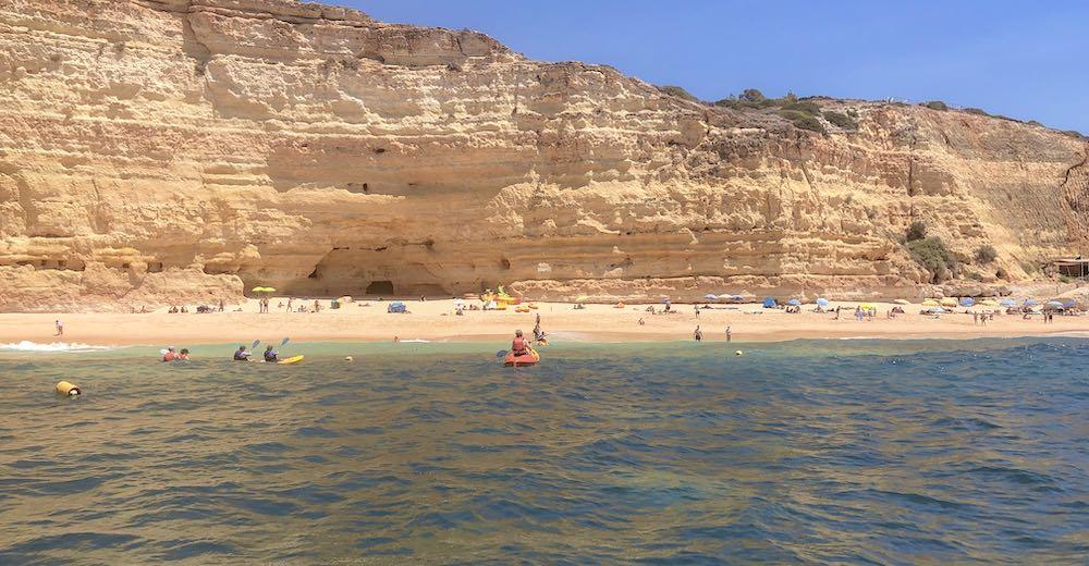 View over the Portuguese beach Praia do Vale de Centeanes