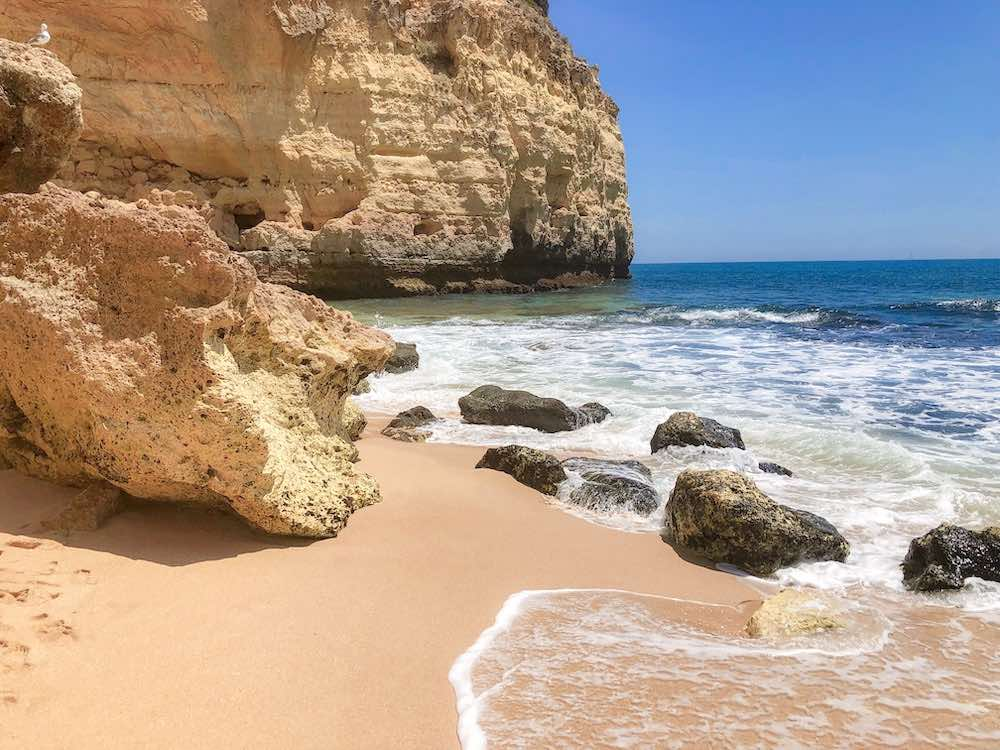 Beautiful spot at Praia do Vale de Centeanes beach, one of the most beautiful beaches in Portugal