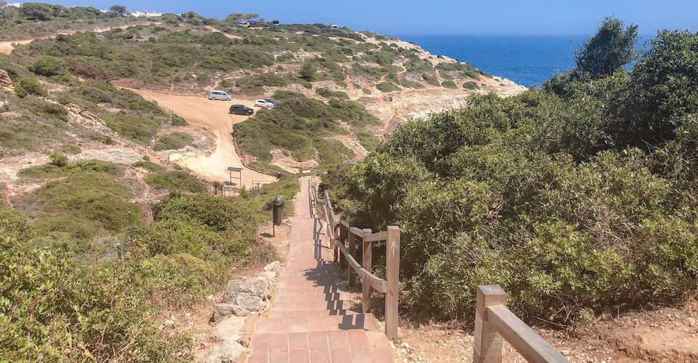 First set of stairs to Praia do Carvalho, one of the coolest beaches in Portugal