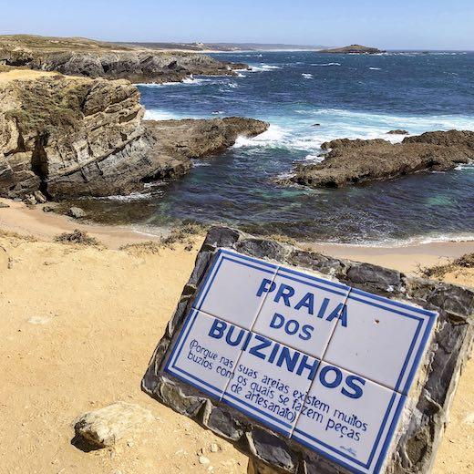 Praia dos Buzuinhos beach in Portugal