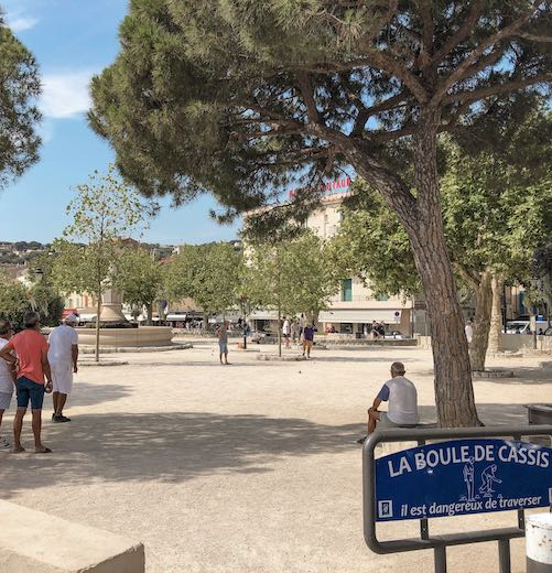 Jeu de boule game in the heart of Cassis France