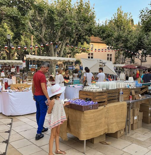 Convivial artisan market in the lovely fishing village of Cassis France