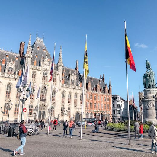 Markt place in Bruges, one of the best cities in Belgium