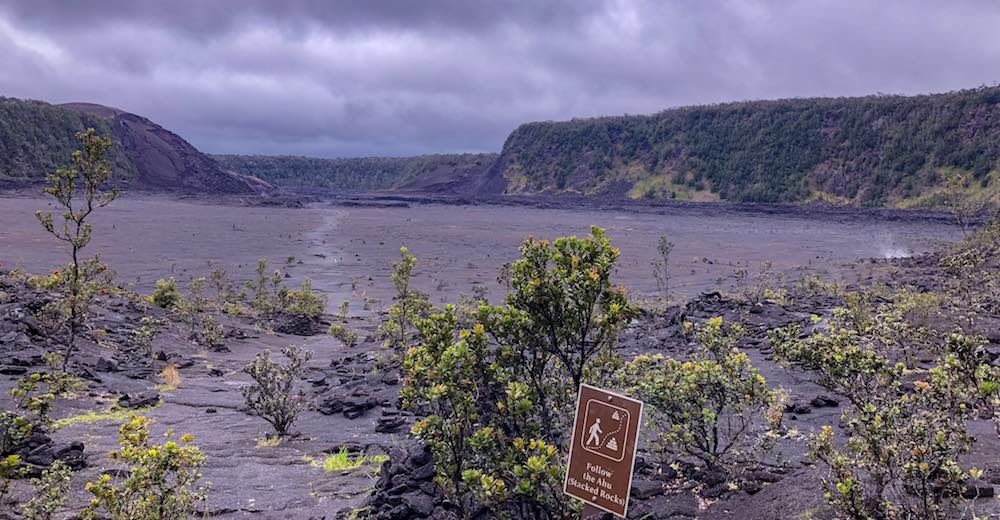 Hawaii Volcanoes National Park is located close to Papakolea beach
