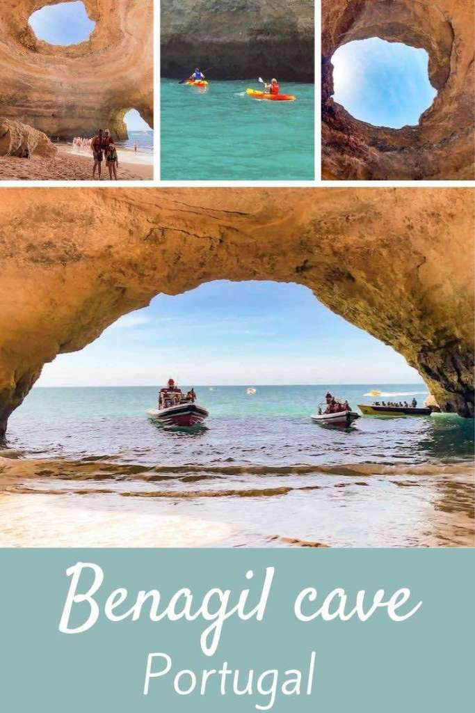 The only guide you'll ever need to plan your visit to the Benagil cave Portugal. Info on boat / kayak / SUP tours plus a review of our Benagil kayak trip. #travel #europe #portugal #kayak #algarve #benagil