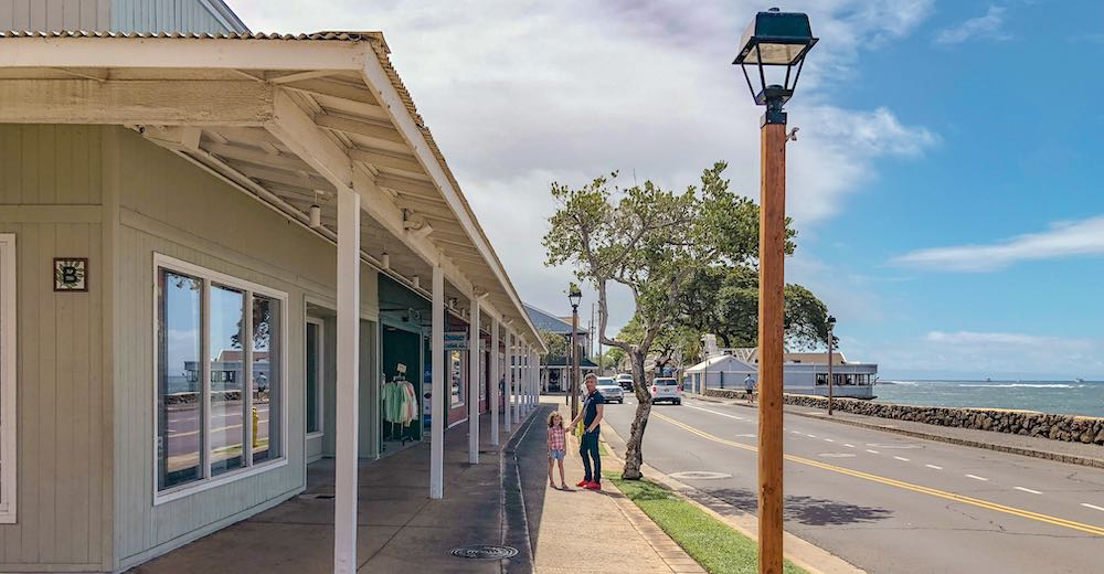 The historic whaling village of Lahaina in Maui