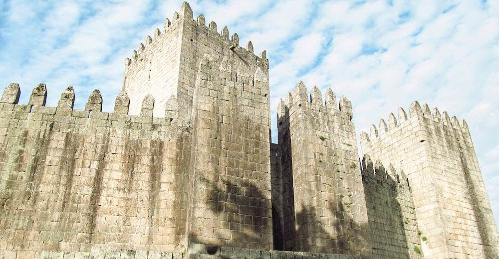 Guimaraes Castle is considered to be the birthplace of the country and therefore a must see in Portugal