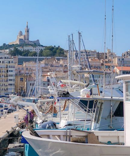 The Vieux Port de Marseille is one of the top places to see in Marseille France