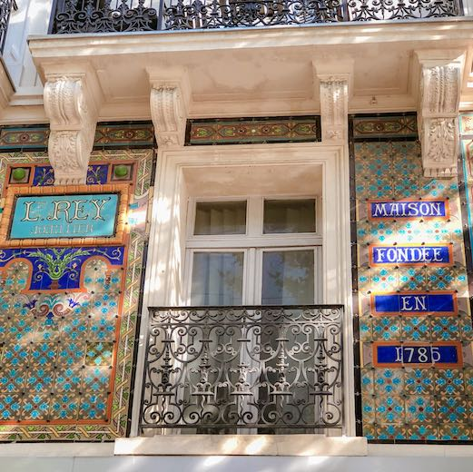 Beautiful facade of a house near Noailles in Marseille
