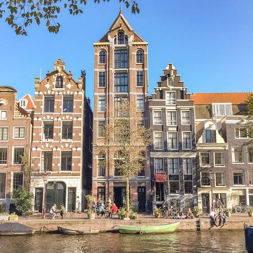 Most beautiful sight in this 2 day Amsterdam itinerary are the canal houses