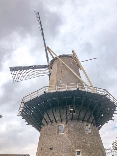 Red Lion windmill in Gouda Netherlands