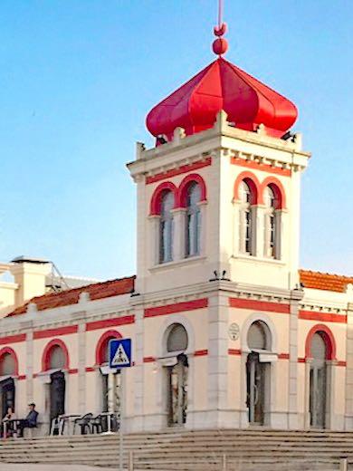 The market hall in Loule near Faro Algarve