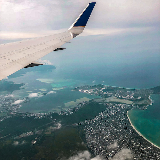 Scenic views from your window seat when you travel between Hawaiian islands on your island hopping Hawaii adventure