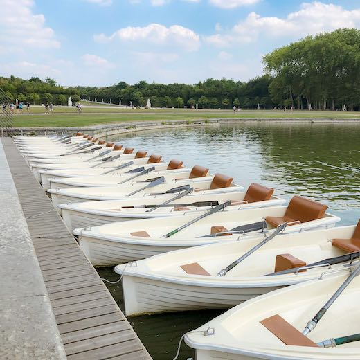 Rowing a boat in the Park of Versailles