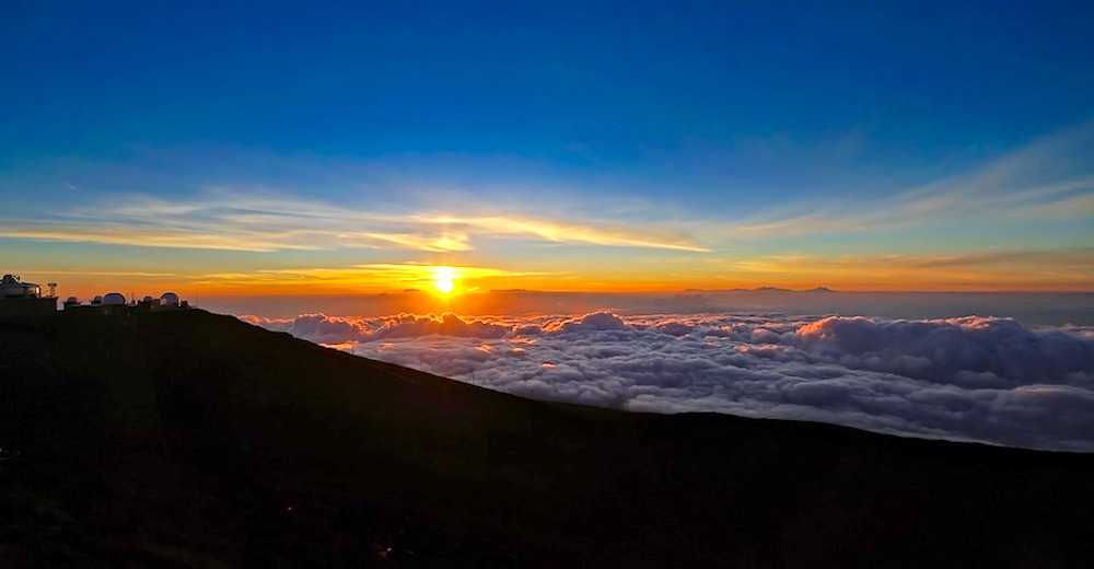 Watching the sunset at Haleakala is an unforgettable family activity Maui
